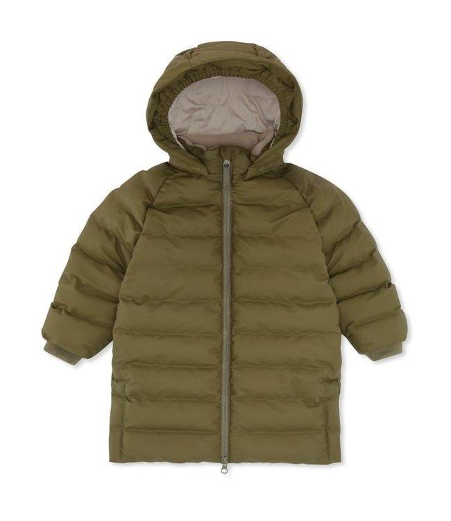 Ace long rain down jacket - fir green