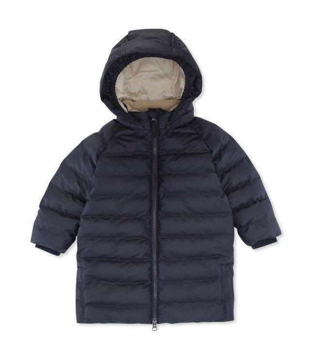 Ace long rain down jacket - midnight navy