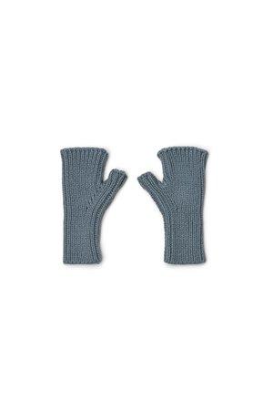 Liewood Finn fingerless mittens - whale blue