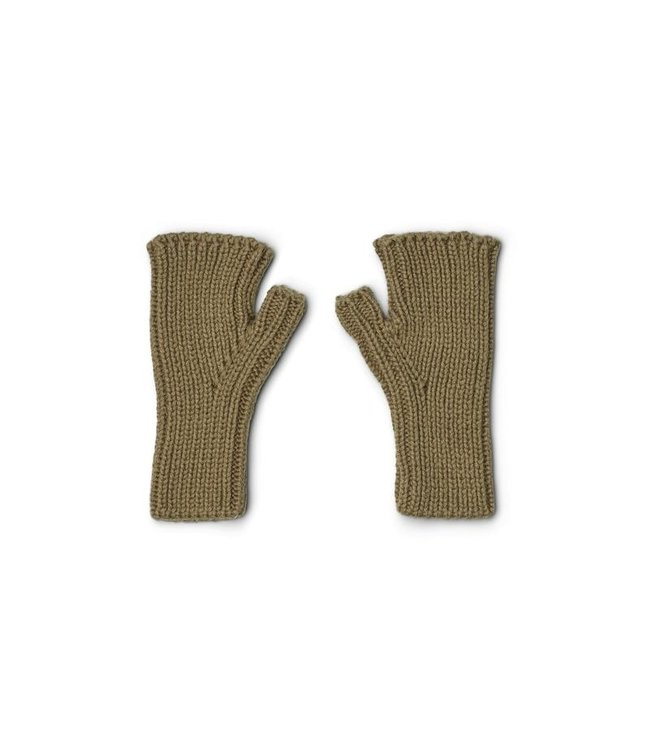 Liewood Finn fingerless mittens - khaki