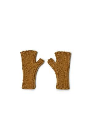 Liewood Finn fingerless mittens - golden caramel