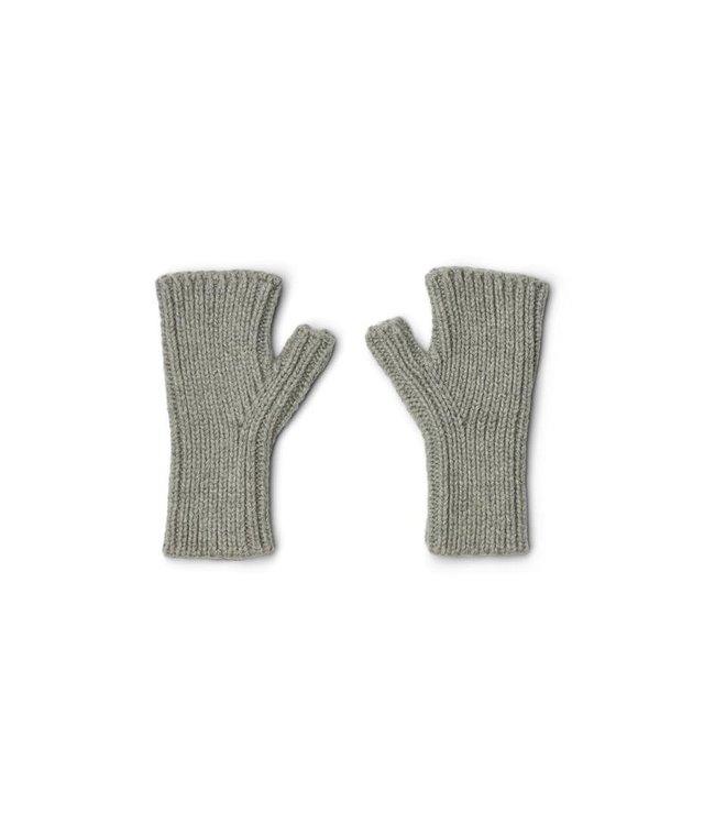 Finn fngerless mittens - grey melange