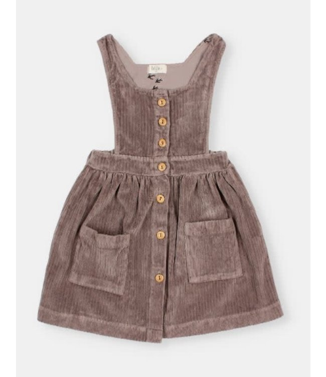 Buho Knit velour dress - taupe