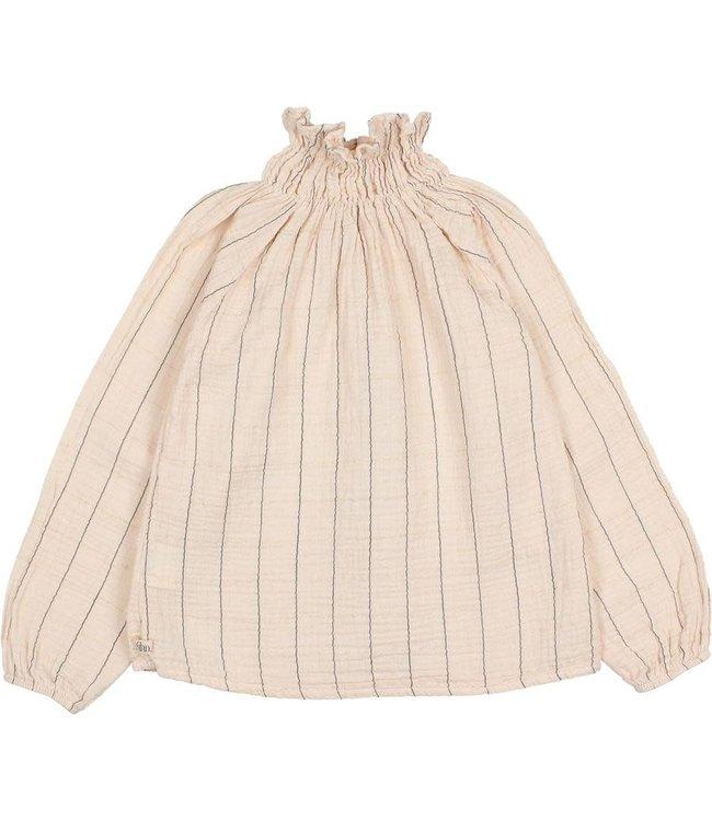 Check lurex blouse - rose