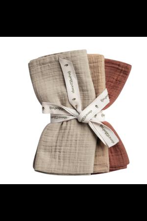 garbo&friends Hay burp cloths - set of 3