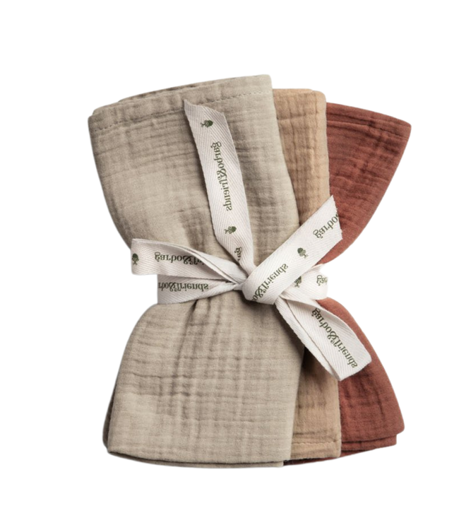 Hay burp cloths - set of 3