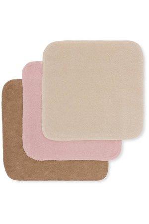 Konges Sløjd 3 Pack terry wash cloths - rosie shade