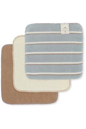Konges Sløjd 3 Pack terry wash cloths - blue vintage stripe