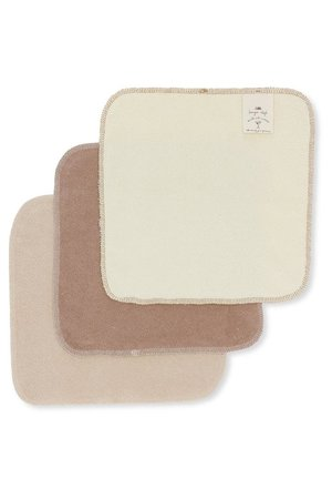 Konges Sløjd 3 Pack terry wash cloths - earthy shades