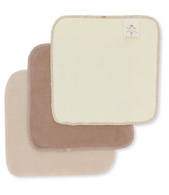3 Pack terry wash cloths - earthy shades