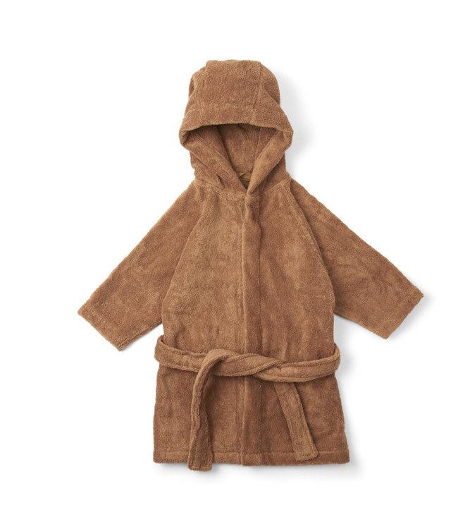 Kids terry bathrobe - almond
