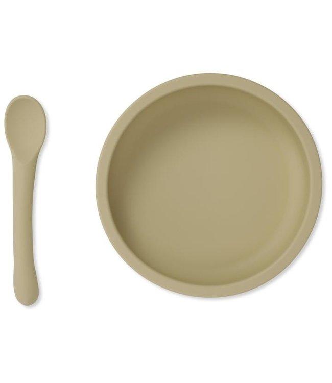 Bowl & spoon silicone set - limonade