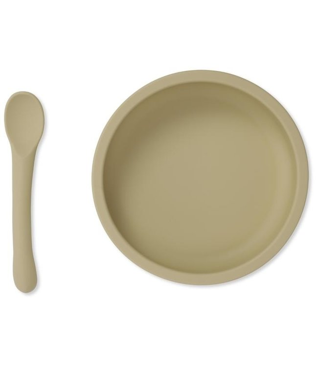 Konges Sløjd Bowl & spoon silicone set - limonade