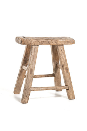 Old stool weathered elm wood #58