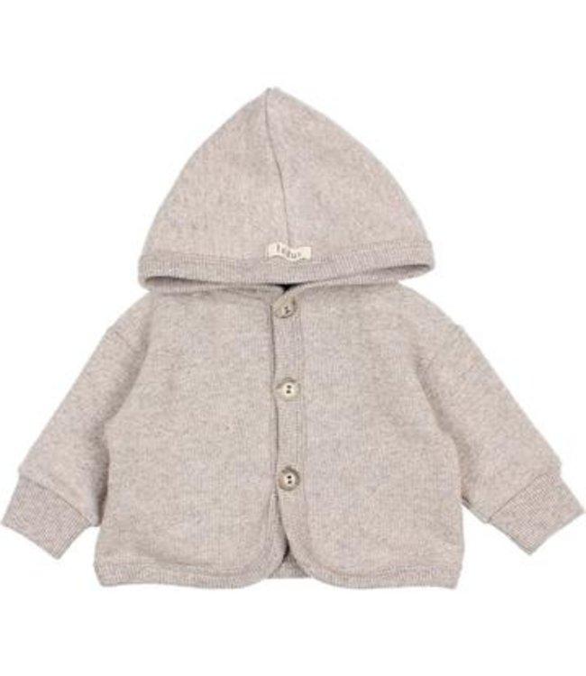 Baby soft jersey jacket - stone