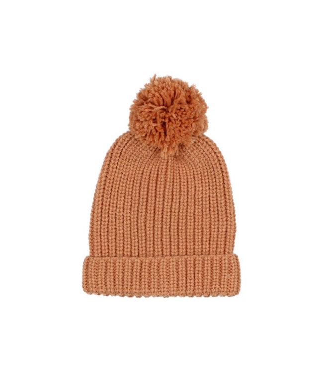 Buho Pom pom soft knit hat - hazel