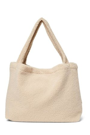 Studio Noos Ecru teddy mom-bag
