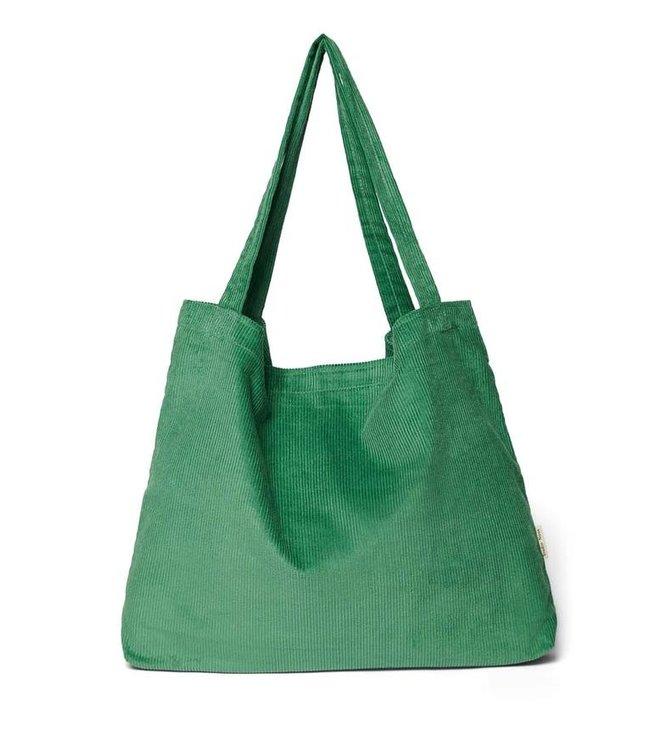 Bright green rib mom bag