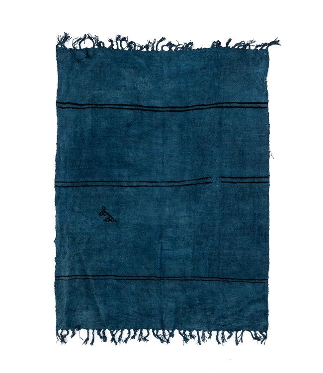 Vintage hemp rug, blue #2 - Turkey - 236 x 183cm