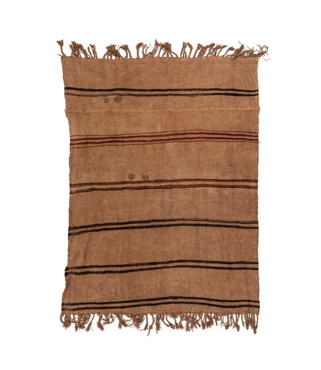 Vintage hennep tapijt, bruin - Turkije - 192 x 140cm