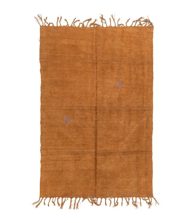 Vintage hemp rug, orange - Turkey - 242 x 159cm