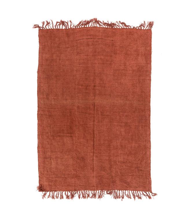 Vintage hemp rug, red #1 - Turkey - 255 x 177cm