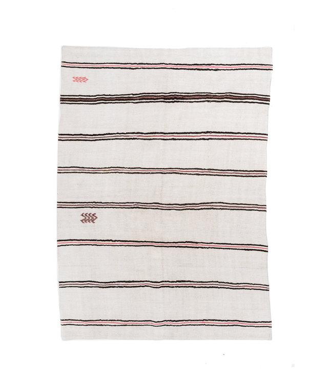 Vintage hemp rug, beige/brown - Turkey - 253 x 181cm