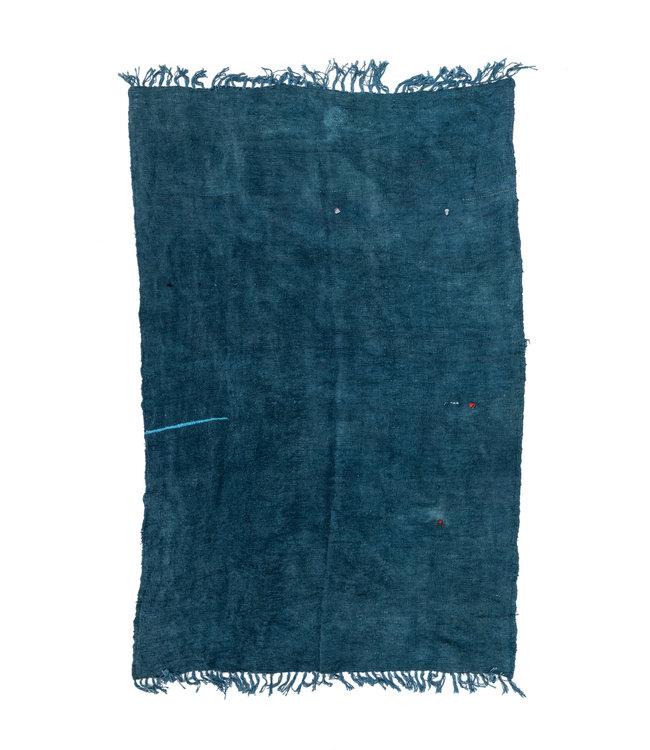 Vintage hemp rug, blue #3 - Turkey - 280 x 188cm
