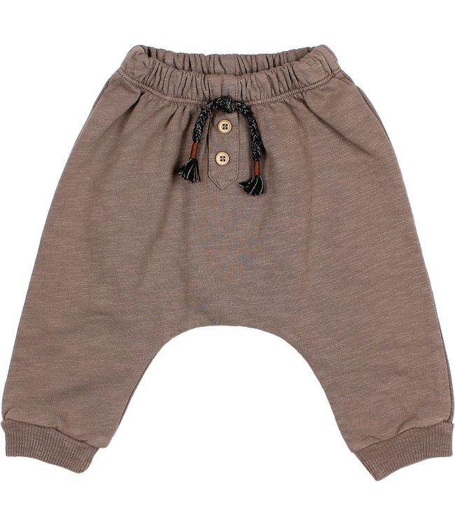 Baby fleece pants - taupe 18M