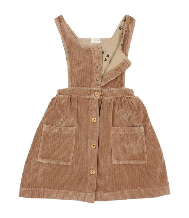 Buho Knit velour dress - muscade