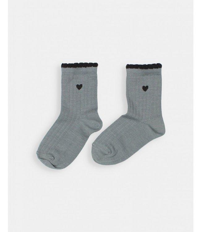 Frill socks - storm grey
