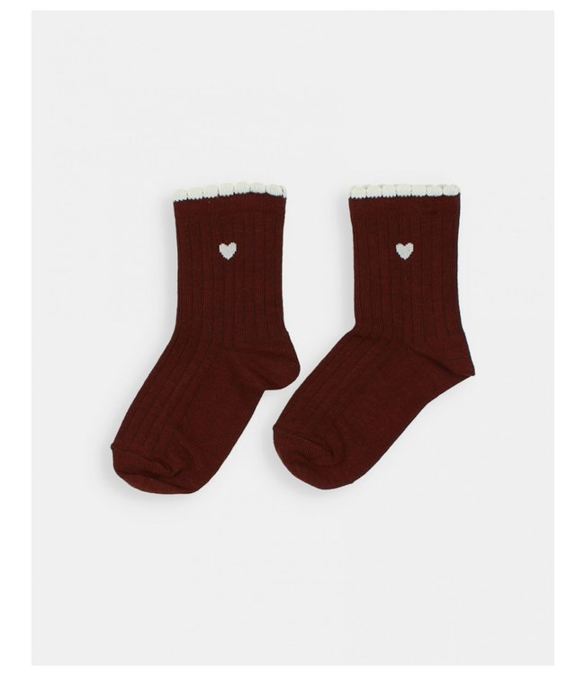 Frill socks - henna