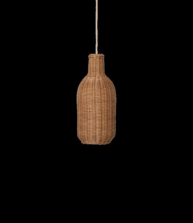 Braided lamp rattan - bottle - natural