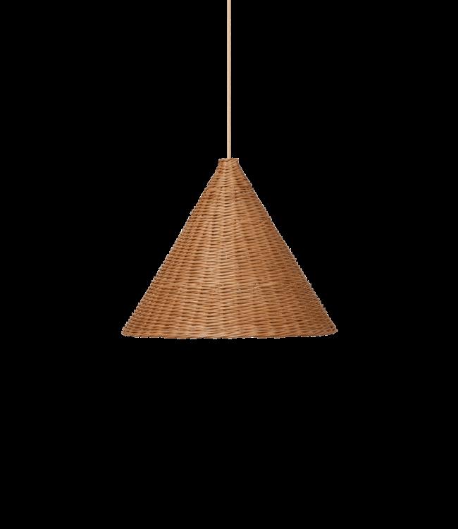 Dou lamp rattan Ø45 - natural