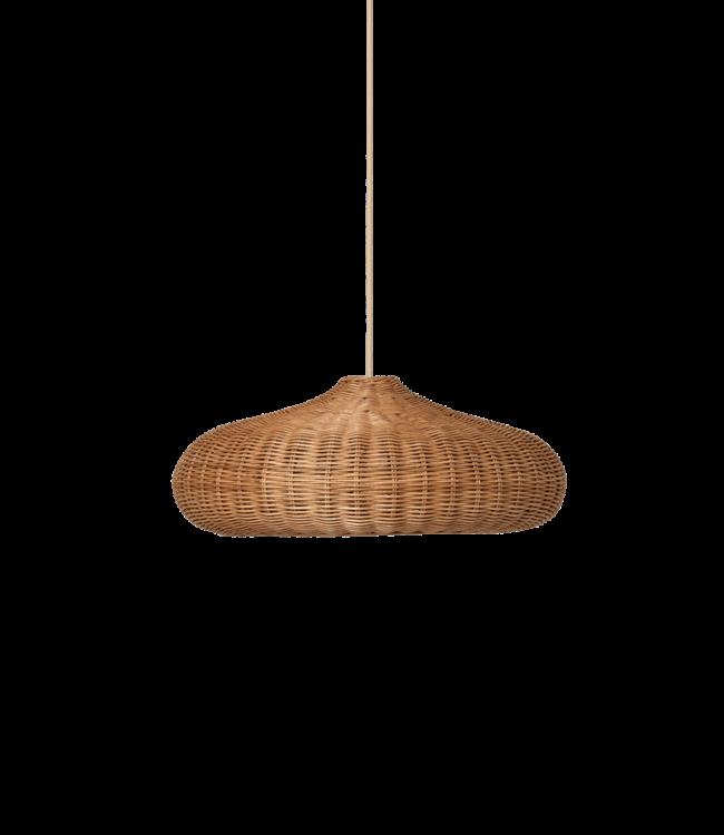 Hanglamp rotan - disc - natural