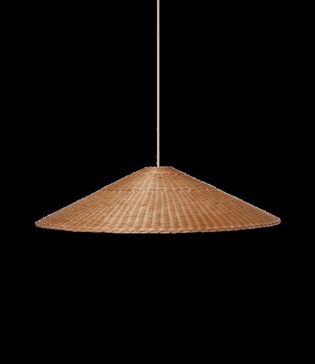 Dou lamp rattan Ø90 - natural