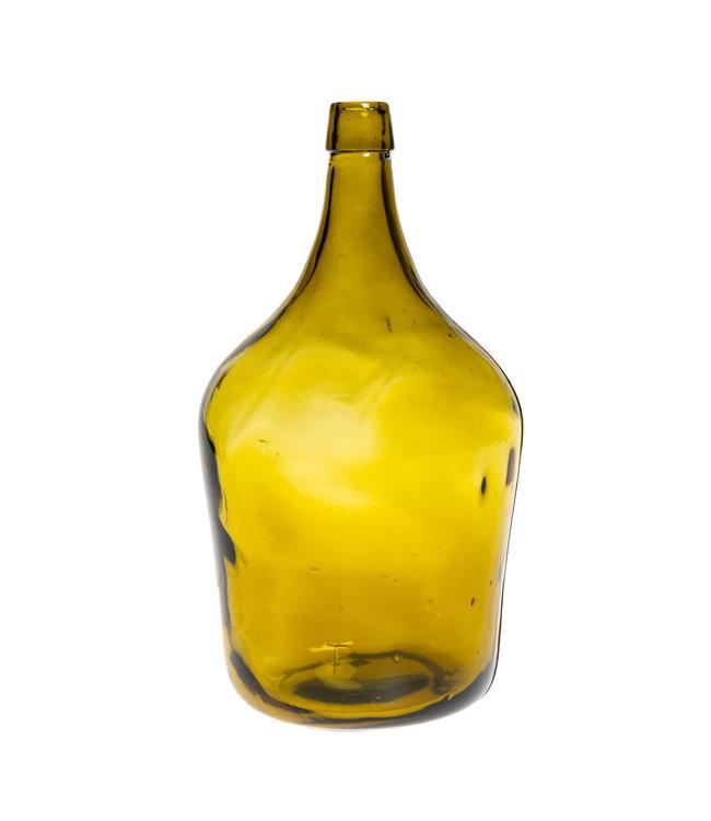 Glazen fles #11 - mosterdgeel