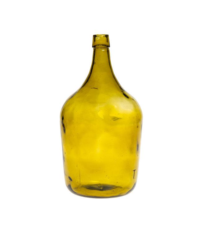 Glazen fles #12 - mosterdgeel