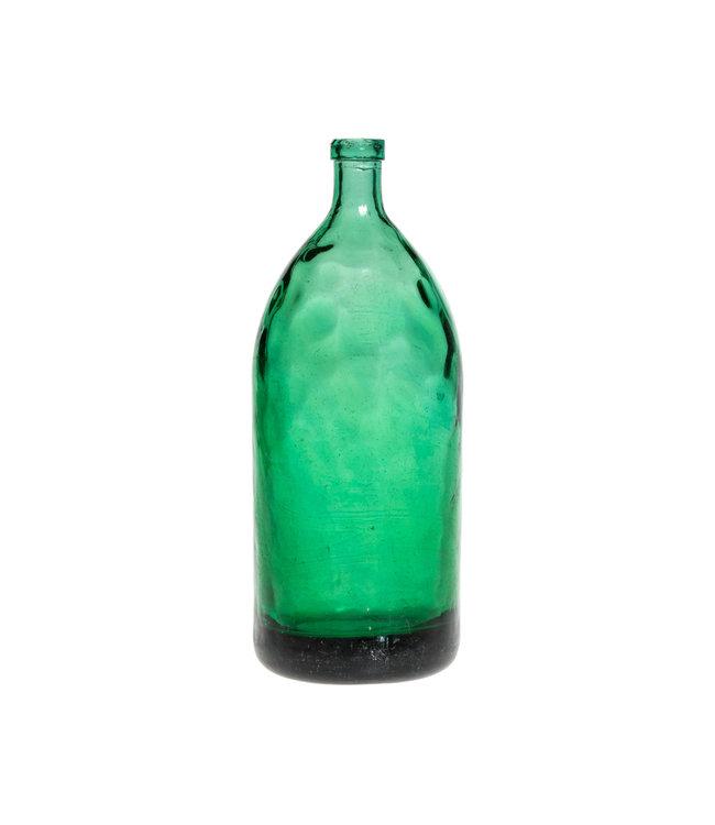Glazen fles #16 - watergroen