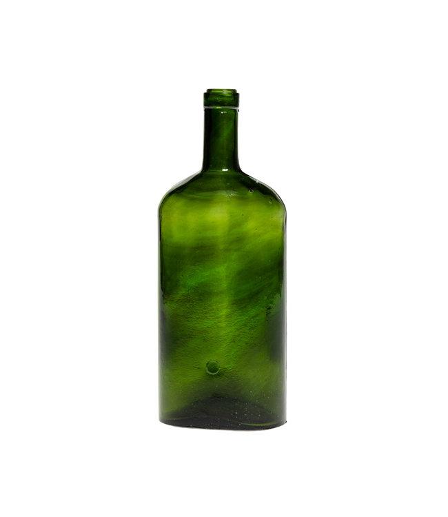 Glazen fles #19 - donkergroen