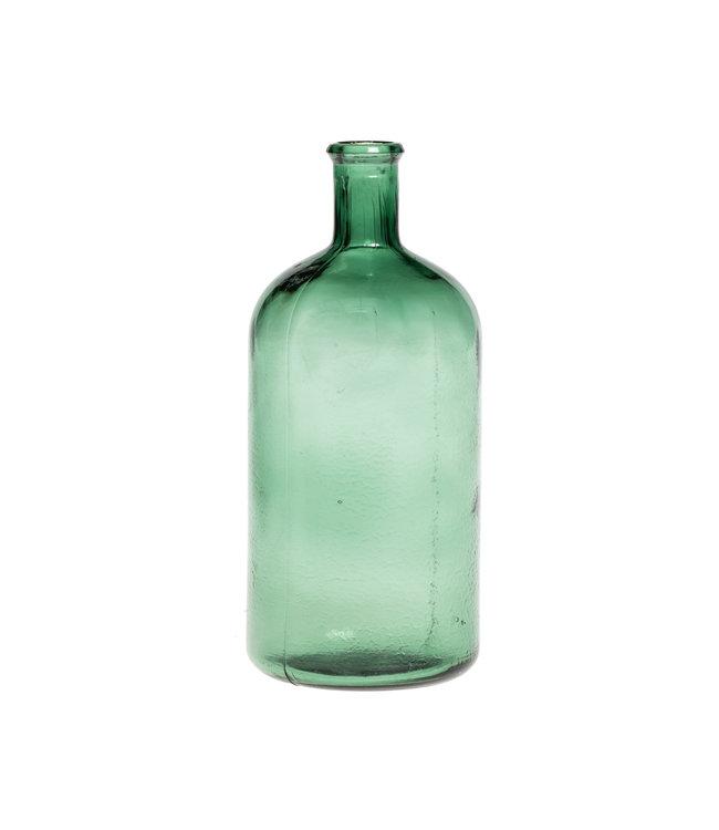 Glazen fles #21 - watergroen