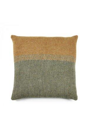 Libeco Jules deco cushion - green herringbone