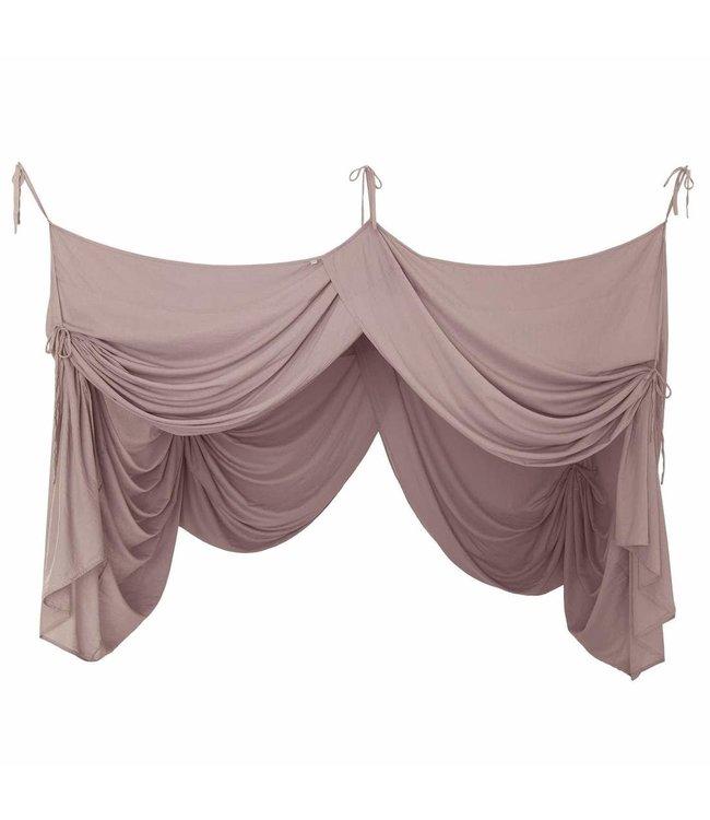 Bed drape - dusty pink