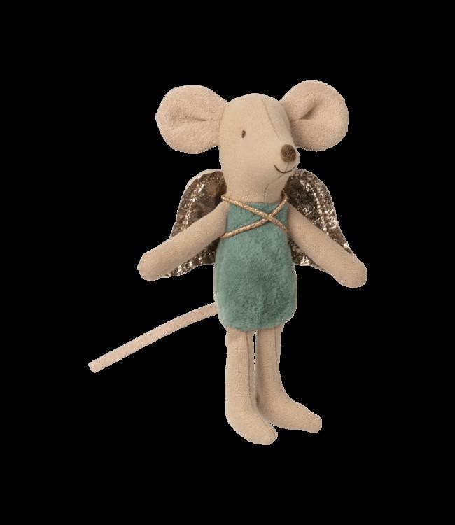 Maileg Fairy mouse, little - turquoise