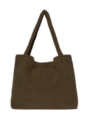 Studio Noos Green teddy mom-bag