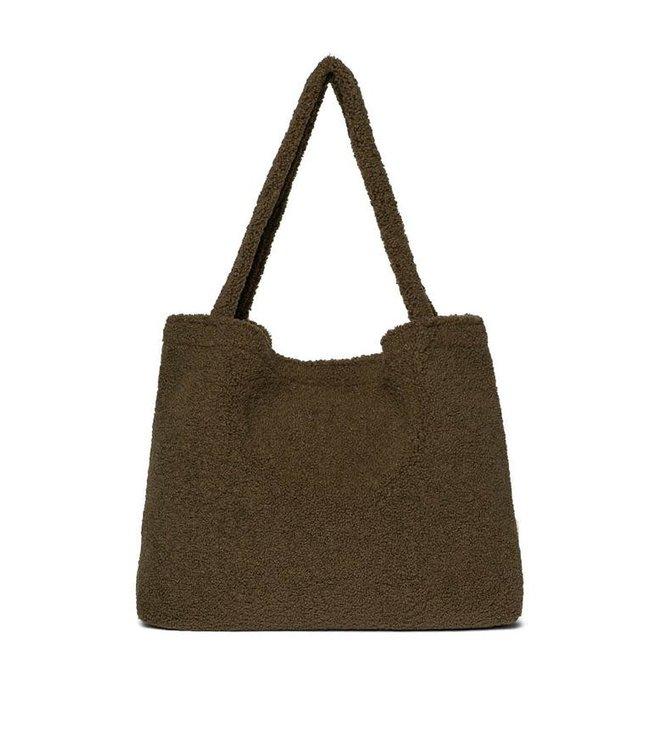 Green teddy mom-bag