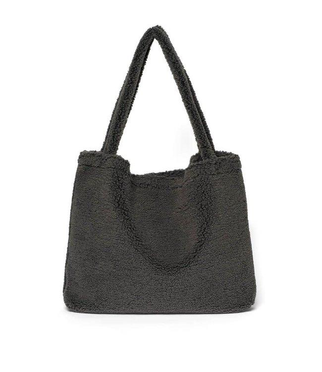 Studio Noos Dark grey teddy mom-bag