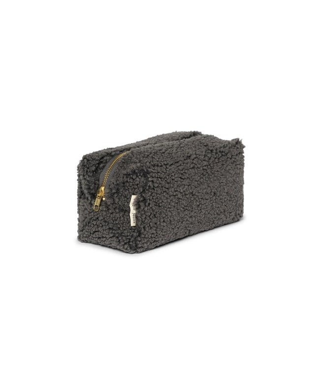 Studio Noos Dark grey teddy pouch