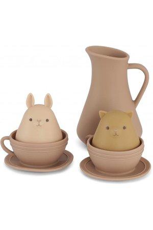 Konges Sløjd Silicone bath toys cup set - bark