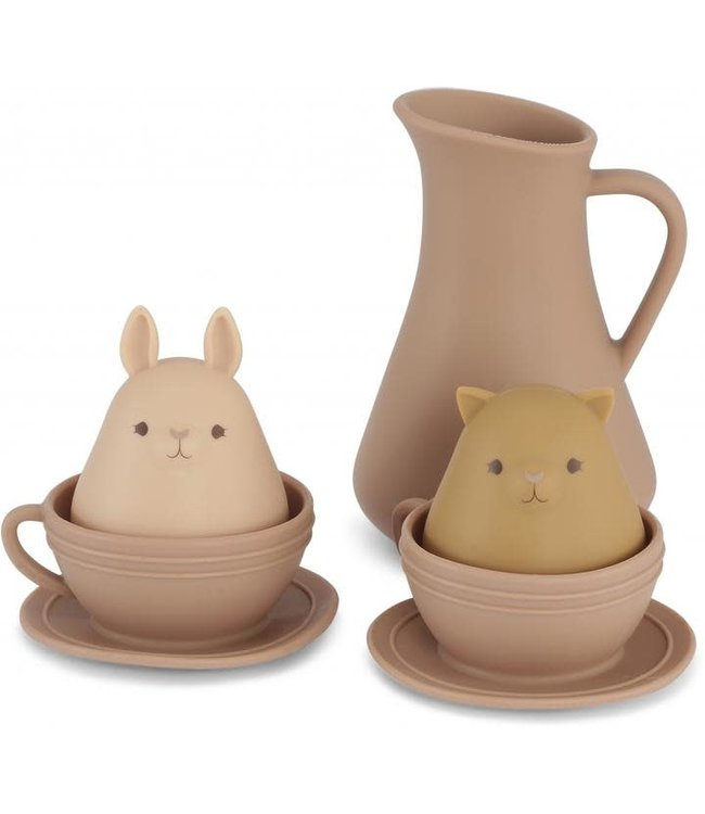 Silicone bath toys cup set - bark